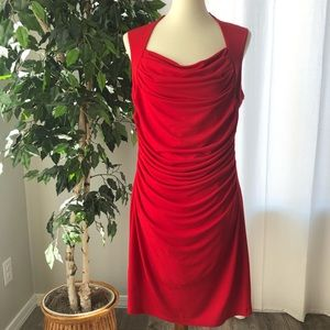 Spense 12 Red Cocktail Holiday Party Stretch Dress